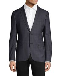 HUGO - Slim-fit Astian Plaid Suit Jacket - Lyst