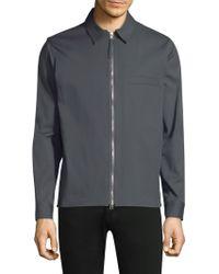 Theory - Rye Zip-front Overshirt Jacket - Lyst