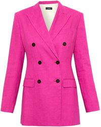 5ed6b56e0c Lyst - Theory Benefield Open-front Blazer in Blue