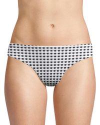 Onia - Lily Gingham-print Bikini Bottom - Lyst