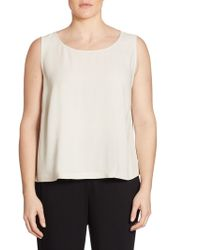 Eileen Fisher - System Silk Georgette Boxy Shell - Lyst