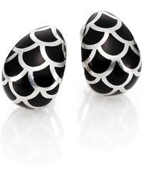John Hardy - Naga Enamel & Sterling Silver Buddha Belly Earrings - Lyst