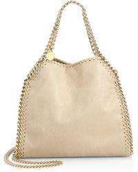 Stella McCartney - Falabella Mini Baby Bella Metallic Faux Suede Shoulder  Bag - Lyst 5753d24ee37e2