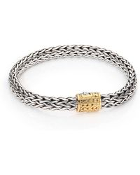 John Hardy - Classic Chain Medium 18k Yellow Gold & Sterling Silver Bracelet - Lyst