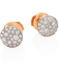 Pomellato - Sabbia Diamond Stud Earrings - Lyst
