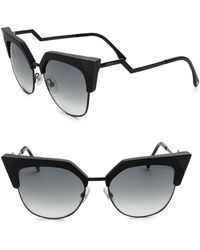 b5dbf32ce3 Fendi 58mm Oversized Square Sunglasses in Black - Lyst