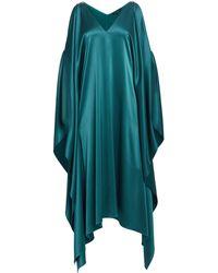 edebc02fbb7ace St. John - Lightweight Liquid Satin Cold Shoulder Midi Dress - Lyst