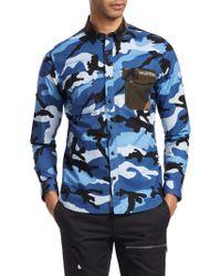 Valentino - Camouflage Cotton Button-down Shirt - Lyst