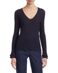 Akris - Ribbed Silk Top - Lyst