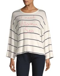 Sundry - Vitamin Sea Stripe Long-sleeve Tee - Lyst