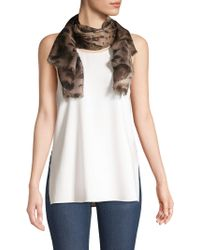 Lafayette 148 New York - Agave Leopard Cashmere-blend Scarf - Lyst