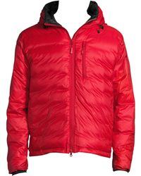 Canada Goose - Men's Lodge Hooded Jacket - Red Black - Lyst