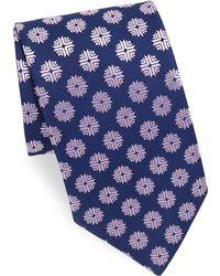 Charvet | Flake Pattern Print Silk Tie | Lyst