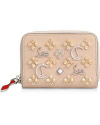 9c07b6a854a Women's Leather Coin Wallet - Nude Multi
