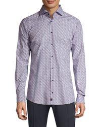 Strellson - Sereno Slim-fit Print Button-down Shirt - Lyst