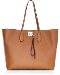 Ferragamo - Medium Studio Leather Tote - Lyst
