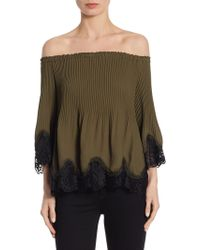 Delfi Collective | Samantha Lace Trim Off-the-shoulder Top | Lyst