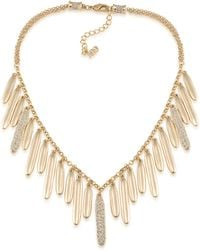 ABS By Allen Schwartz - Venice Beach Pave Drop Necklace - Lyst
