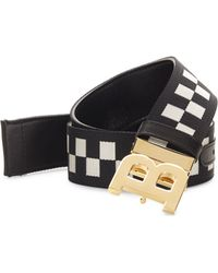 Bally | Checkered Belt | Lyst