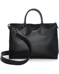 Burberry - Large London Leather Briefcase - Lyst