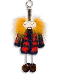 Fendi - Hypnoteyes Fur Key Charm - Lyst