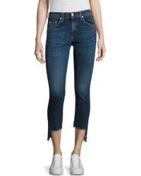 Rag & Bone - Step Hem Capri Skinny Jeans/hampton - Lyst