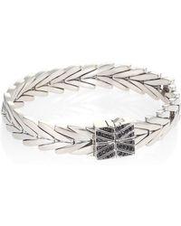 John Hardy - Modern Chain Black Spinel & Sterling Silver Bracelet - Lyst