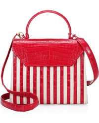 0e712b2721 Nancy Gonzalez - Tina Craig X Lily Striped Top Handle Leather Bag - Lyst
