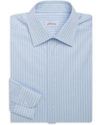 Brioni - Regular-fit Stripe Cotton Dress Shirt - Lyst