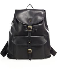 Polo Ralph Lauren - Drawstring Leather Backpack - Lyst