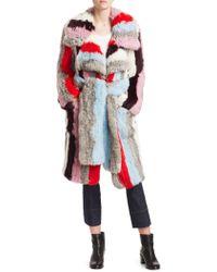 Cinq À Sept - Drew Striped Fur Coat - Lyst