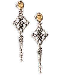 Konstantino - Penelope 18k Yellow Gold & Sterling Silver Filigree Drop Earrings - Lyst