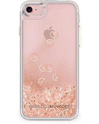 Rebecca Minkoff - Glitterfall Peace Sign Iphone 7 Case - Lyst