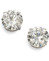 Adriana Orsini - Sterling Silver 4 Carat Stud Earrings - Lyst