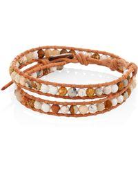 Chan Luu - Jasper Mix Beaded Wrap Bracelet - Lyst