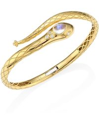 London Road Jewellery Kew Serpent Yellow Gold Ruby Bangle UNd0yLG