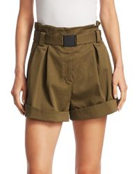 N°21 | Hi-waisted Belted Shorts | Lyst