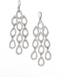 ABS By Allen Schwartz - Pave Chandelier Earrings - Lyst