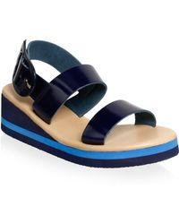 Ancient Greek Sandals - Clio Metallic Leather Wedge Sandals - Lyst