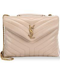 Saint Laurent - Medium Lou Lou Leather Shoulder Bag - Lyst