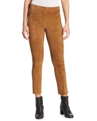 Vince | Stretch Suede Pants | Lyst