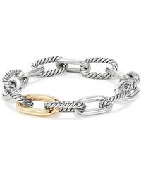 David Yurman - Madison Chain Medium Bracelet With 18k Gold - Lyst