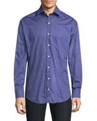 Peter Millar - Printed Cotton Button-down Shirt - Lyst