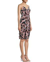 Aidan Mattox - Antique Floral Print Sheath Dress - Lyst