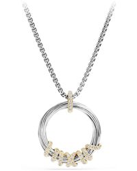David Yurman - Helena Medium Pendant Necklace With Diamonds And 18k Gold - Lyst
