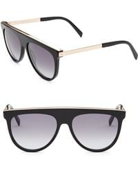 06a2548ef28 Gucci Aviator Metal Sunglasses With T-bar in Brown for Men - Lyst