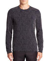 Giorgio Armani - Static Print Sweater - Lyst