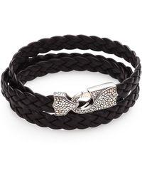 Stephen Webster - Braided Leather Bracelet - Lyst