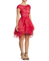 Monique Lhuillier - Lace Tiered Dress - Lyst