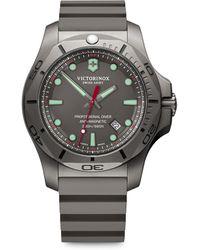 Victorinox - I.n.o.x. Professional Diver Sandblasted Titanium Rubber Strap Watch - Lyst